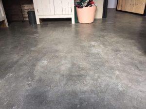 Sneldrogende cementvloer